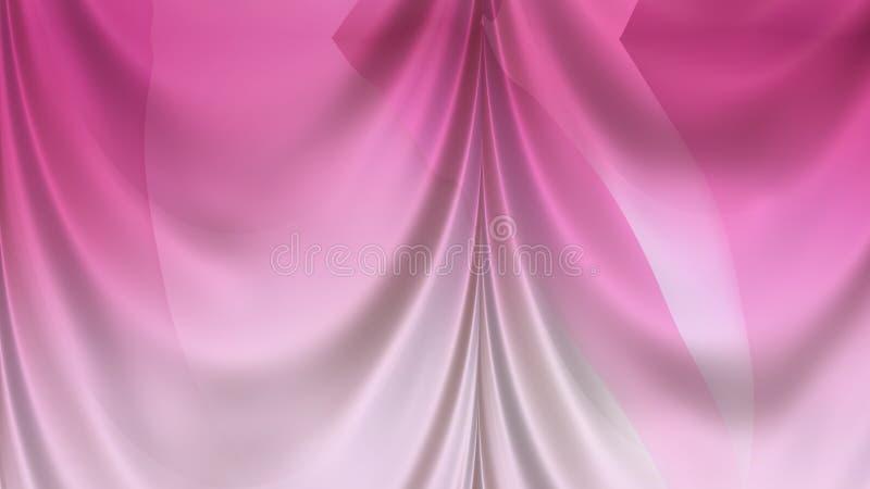 Abstract Pink Silk Curtain Background Texture Beautiful elegant Illustration graphic art design Background. Image stock illustration
