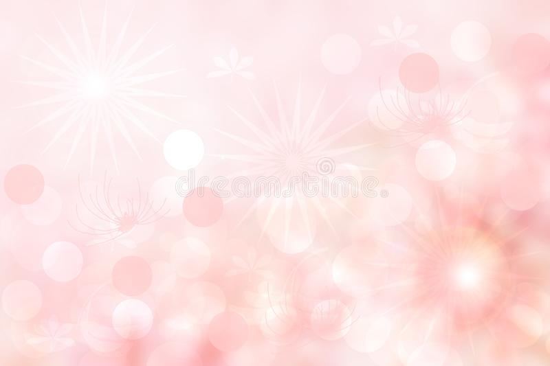 Abstract pink spring or summer flower background. Abstract bright flower background with beautiful pink flowers and space for vector illustration