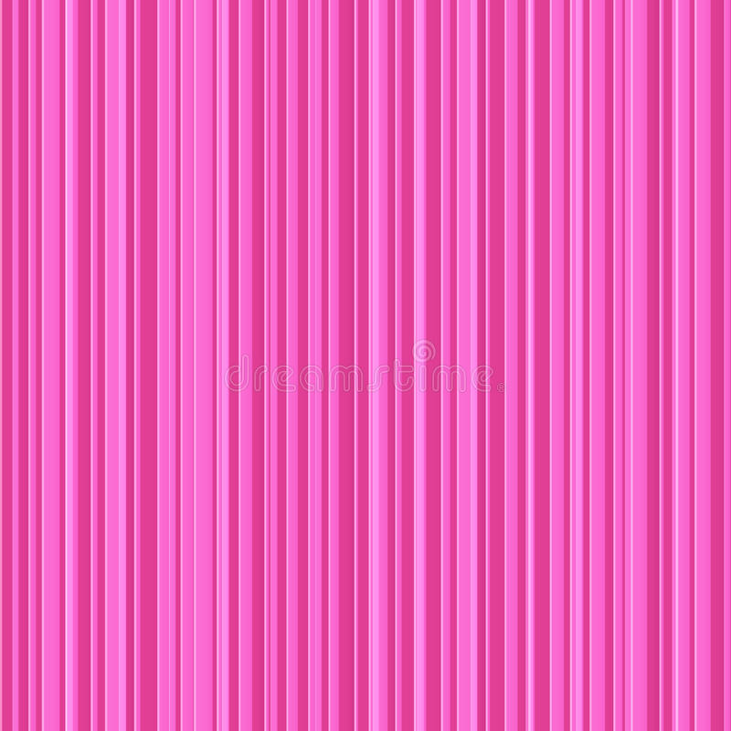 Abstract Pink Stripes Vector Seamless Pattern Stock Image
