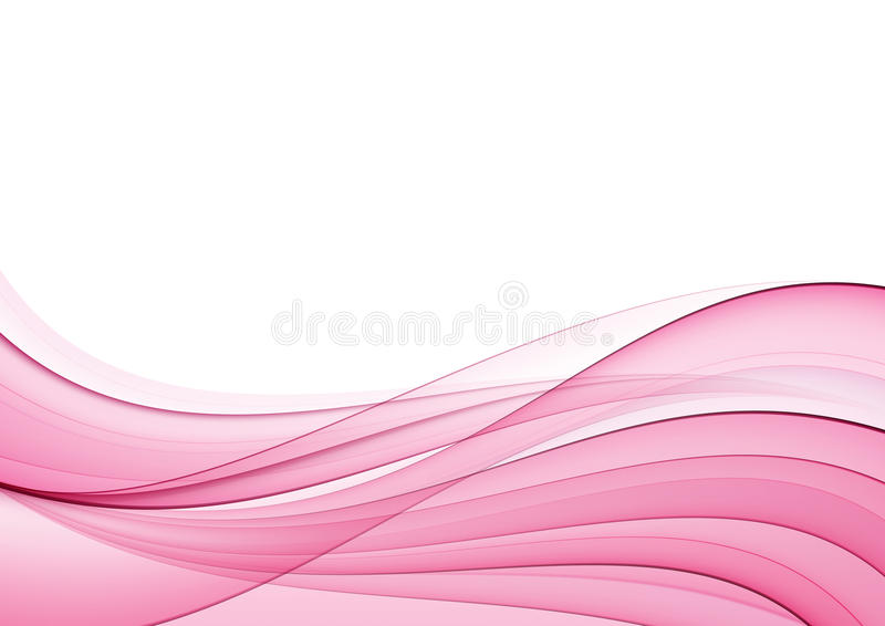 Abstract pink wave royalty free illustration