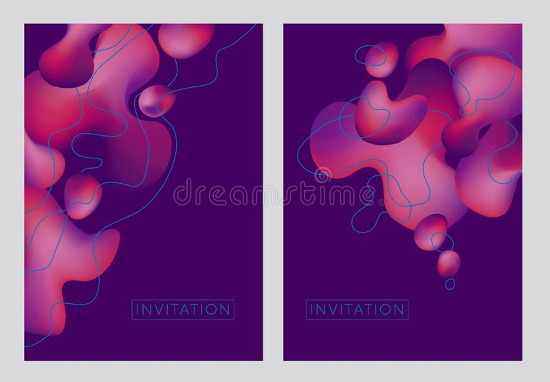 Abstract pink wave fluid creative fantasy pattern royalty free illustration
