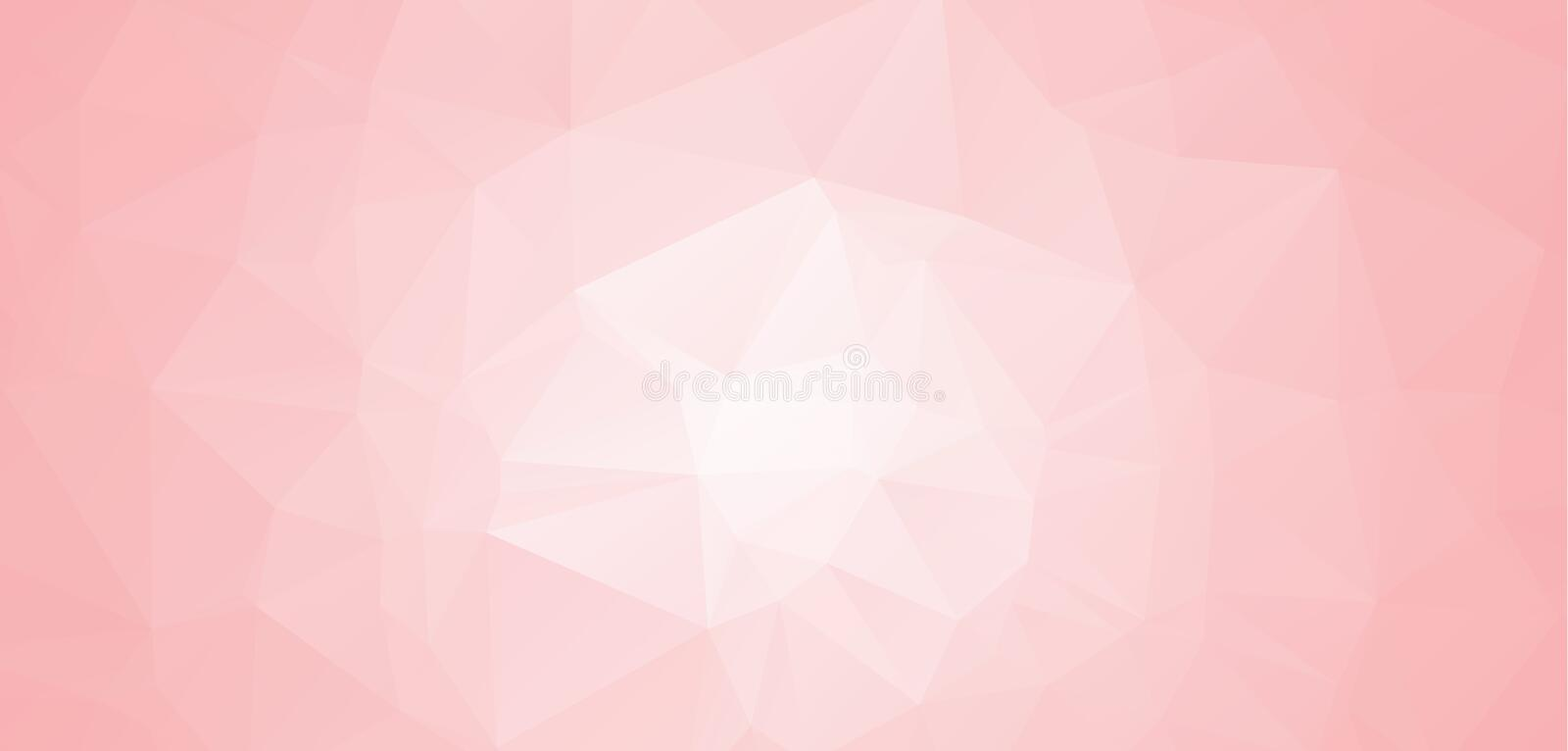 Abstract Pink and white abstract geometric backgrounds. Polygonal vector. Abstract polygonal illustration, which consist of triang. Les. Triangular design for stock illustration