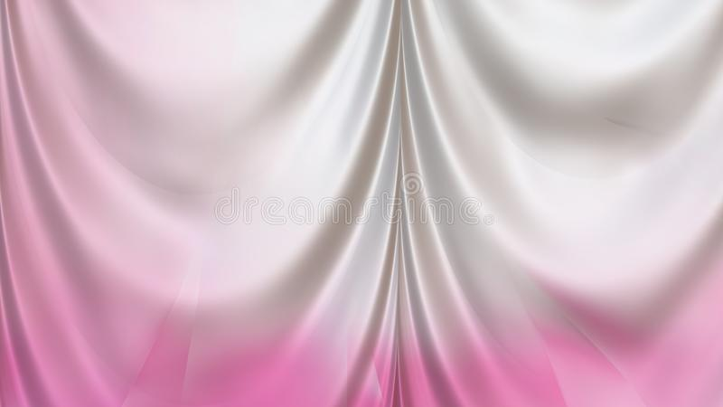 Abstract Pink and White Silk Curtain Background. Beautiful elegant Illustration graphic art design royalty free illustration