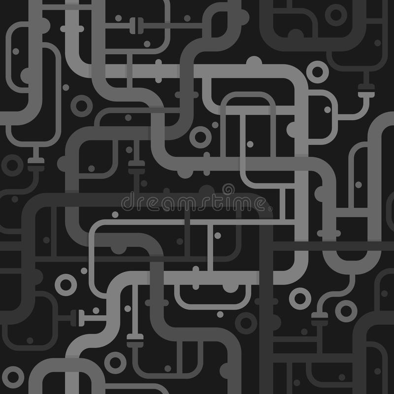 Abstract piping seamless pattern vector illustration