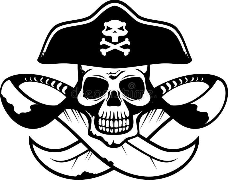 Abstract piraatsymbool in vectorformaat stock illustratie