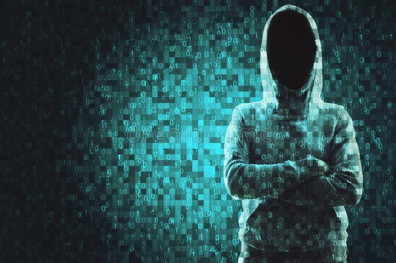 Technology and coding concept. Abstract pixel hacker background. Technology and coding concept. Multiexposure stock images