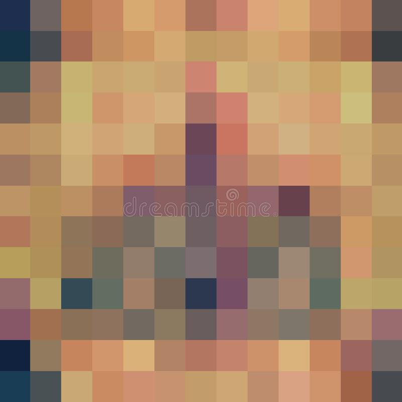 Abstract Pixelated Pastel Colors and Texture vector illustration