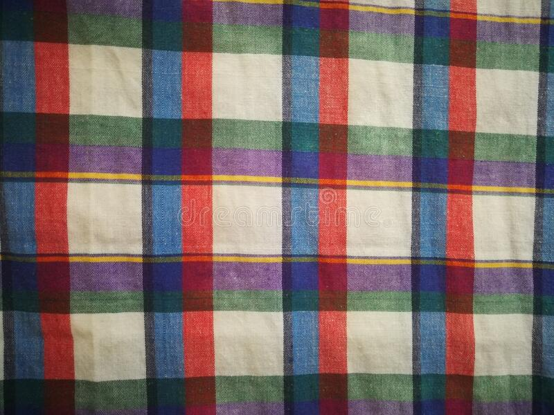 Abstract plaid Texture Background Loincloth fabric Thailand silk. Thai loincloth roll for sale at the market in thailand stock images
