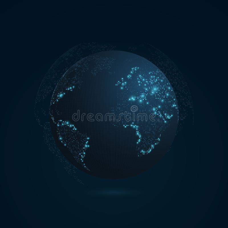 Abstract planet on a dark blue background earth world map blue download abstract planet on a dark blue background earth world map blue light sciox Choice Image