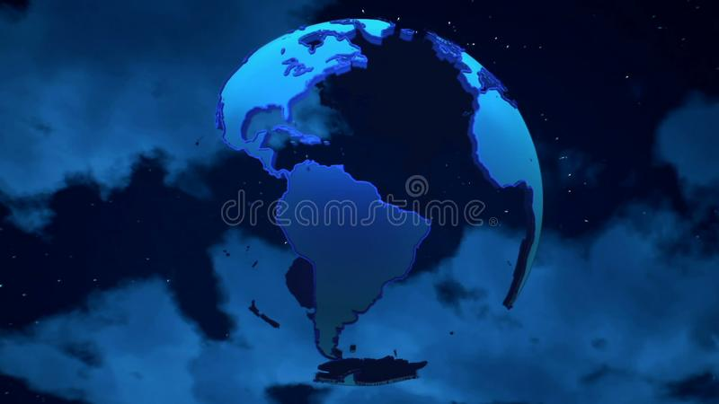 Planet Earth on the clouds background. royalty free stock image