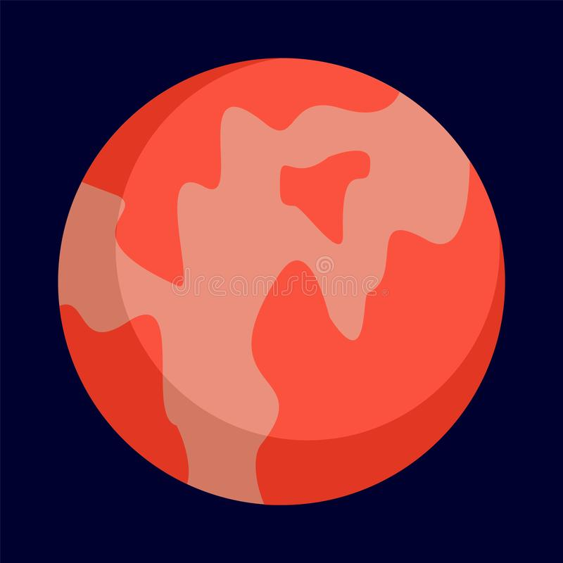 Abstract planet icon, flat style royalty free illustration