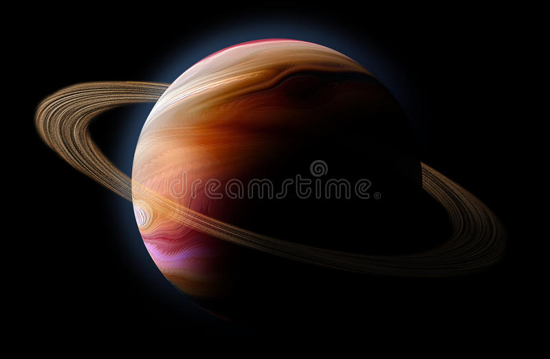 Download Abstract Planet With Sun Flare In Deep Space Stock Illustration - Image: 12650632