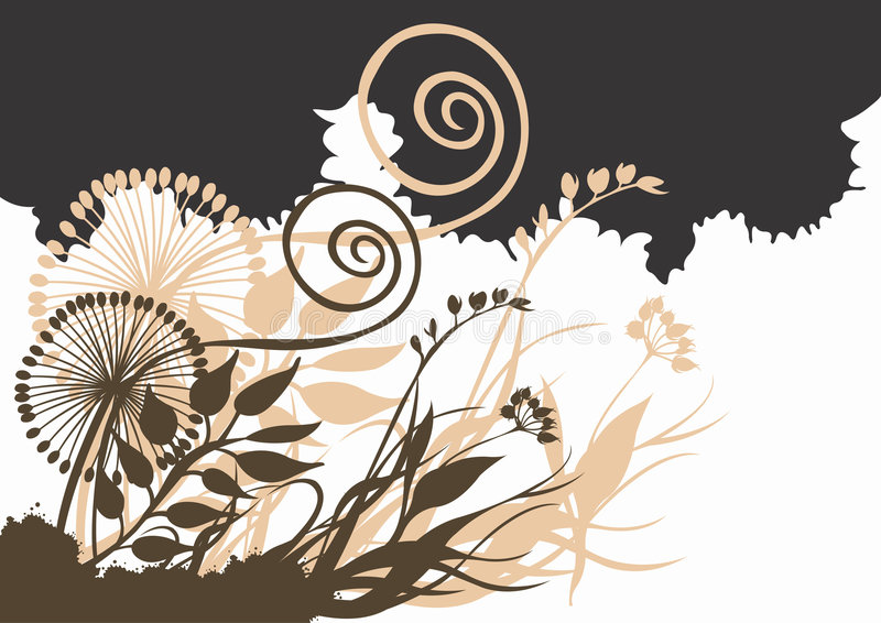 Abstract plants vector illustration