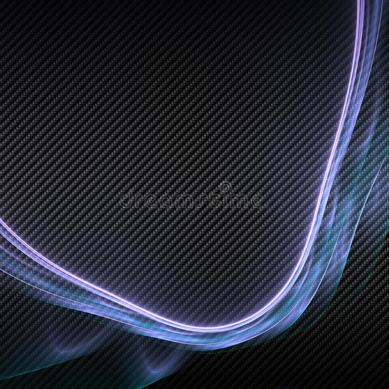 Abstract Plasma over Carbon Fiber. Highly detailed illustration of an abstract fractal plasma illustration over a carbon fiber background royalty free illustration