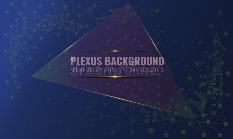Abstract plexus background with connected lines and dots. Wave flow for your visit card or flyer background. Vector vector illustration