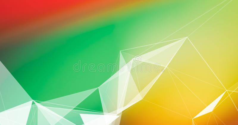 Abstract Plexus Background. Geometric poligonal texture on floral blurred background stock photography