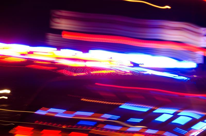 Abstract police lights. An abstract view of police car lights