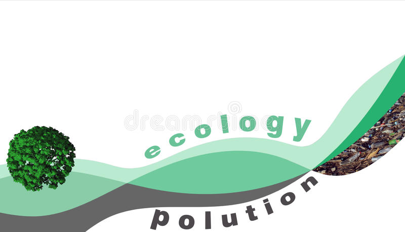 Abstract pollution rendering stock illustration