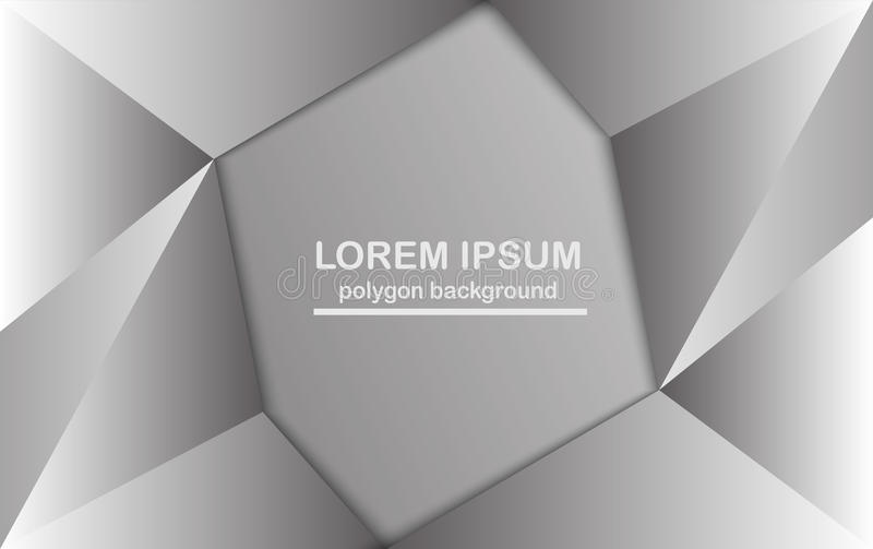 Abstract polygon background in grey color. royalty free illustration