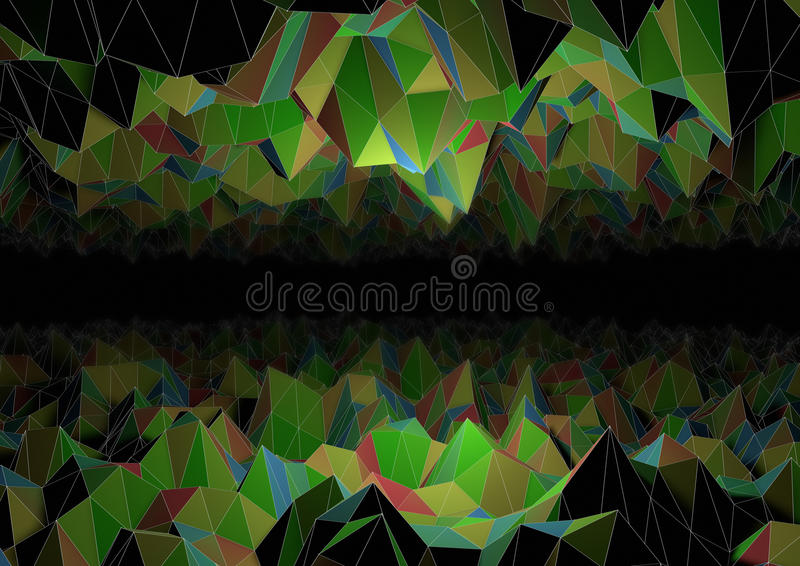 Abstract polygon cave
