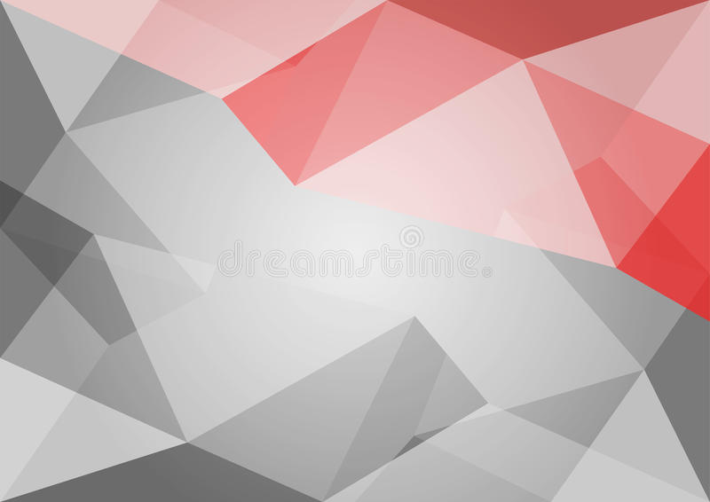Download Abstract Polygon Grey And Red Background Stock Vector
