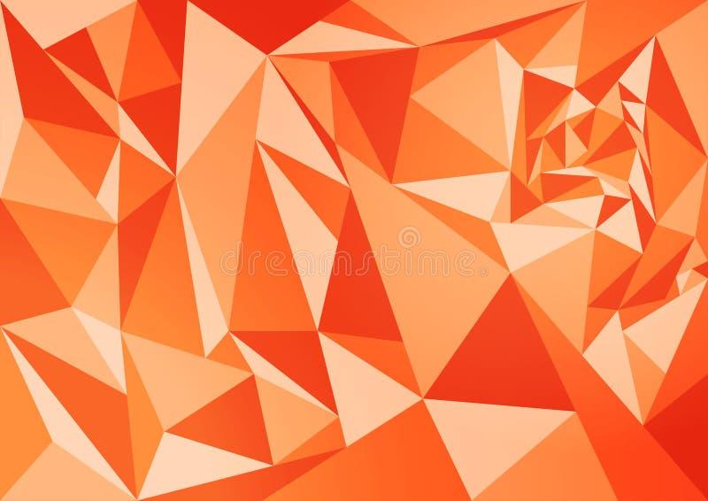 Abstract polygon orange background stock image