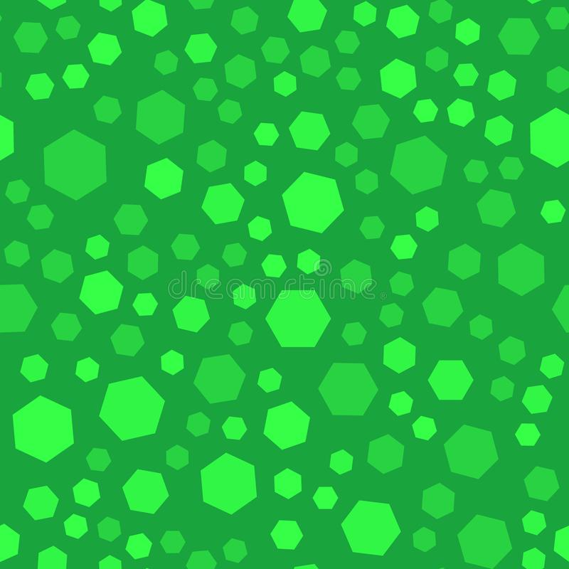 Abstract polygon seamles pattern, green color, vector. Graphic stock illustration