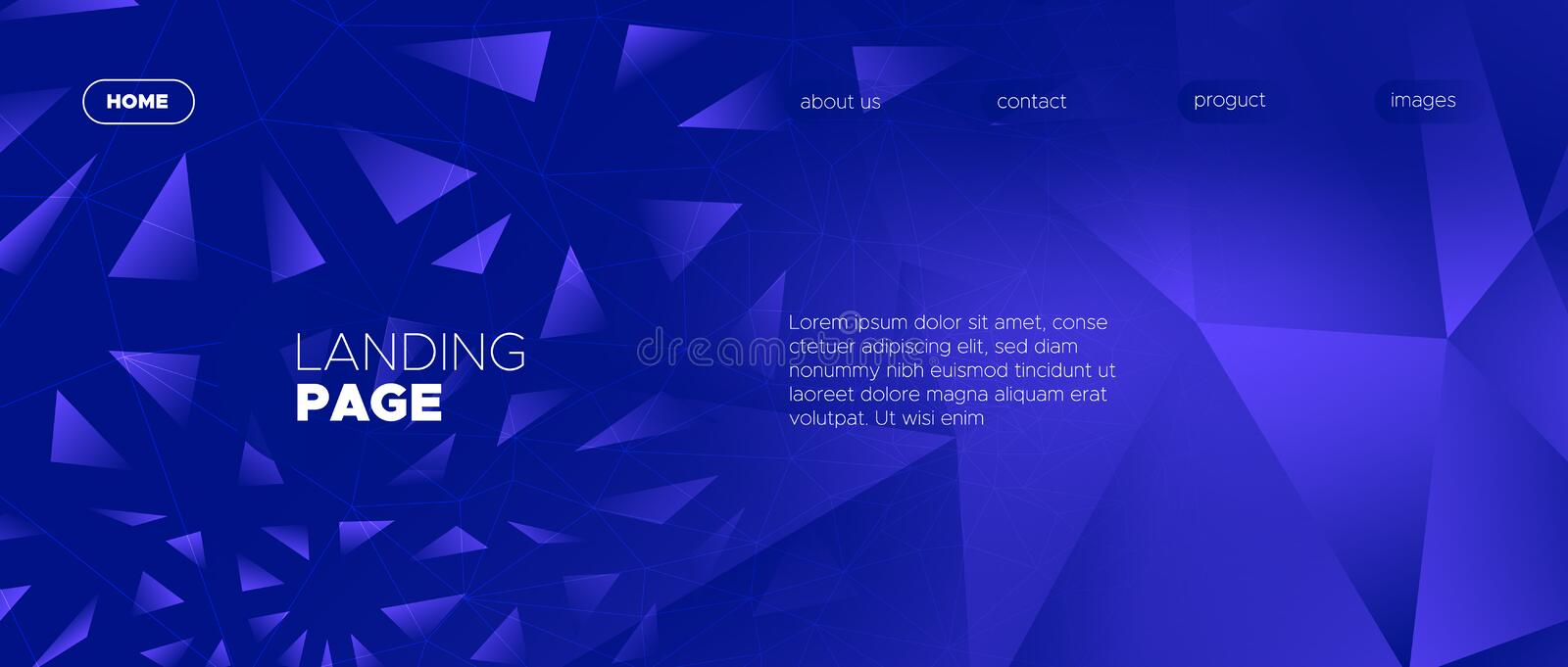 Abstract Polygon Wallpaper. Blue Geometry royalty free illustration