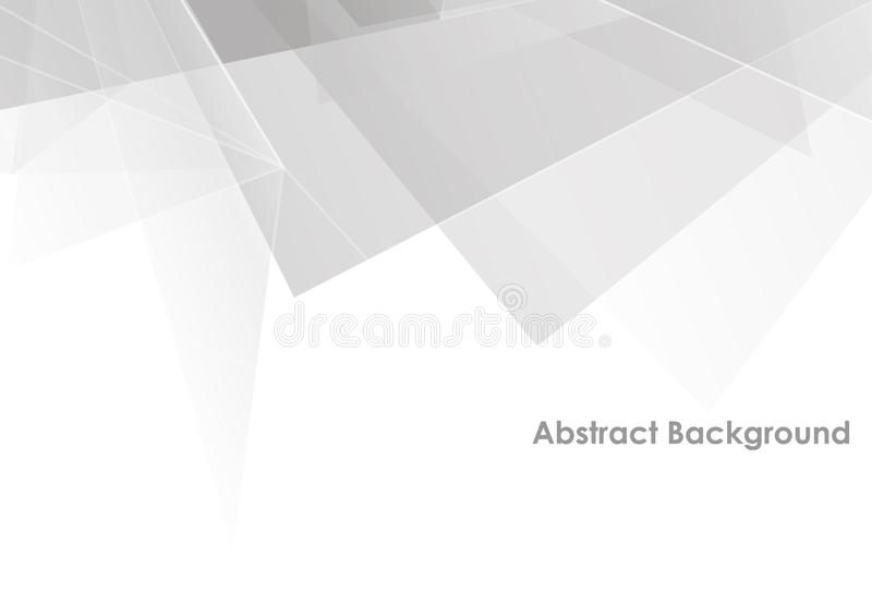 Abstract polygon white and gray color modern background design. Illustration vector design royalty free illustration