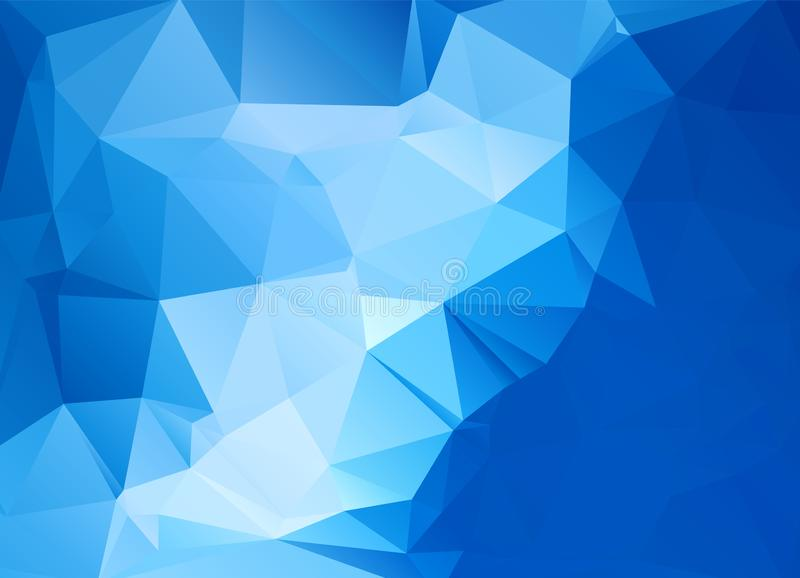 Abstract polygonal background. Futuristic style. Geometric colorful triangle texture. Mosaical surface royalty free illustration