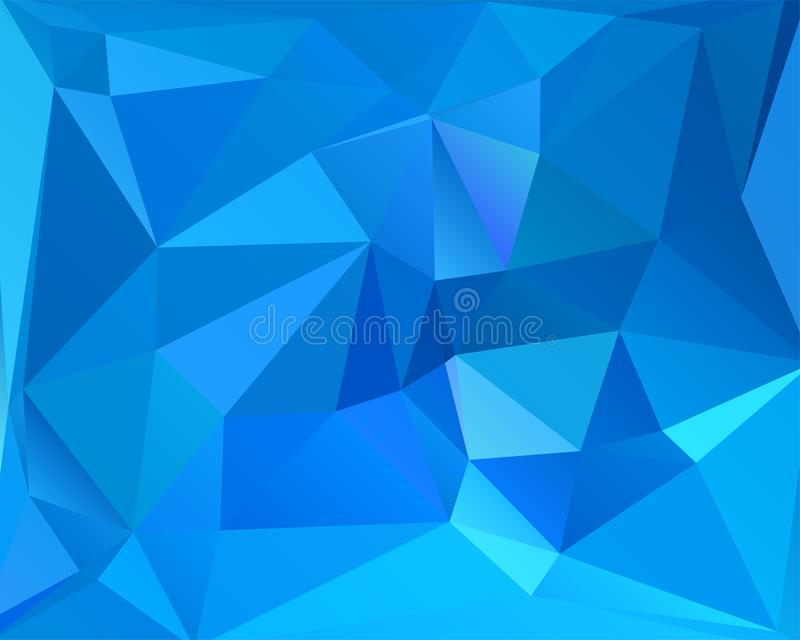 Abstract polygonal background. Futuristic style. Geometric colorful triangle texture. Mosaical surface stock illustration