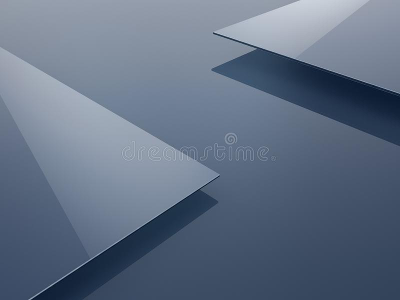 Abstract polygonal background, geometric 3D illustration. Creative design template royalty free stock photography