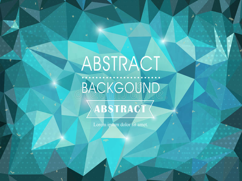 Abstract polygonal background for poster template royalty free illustration
