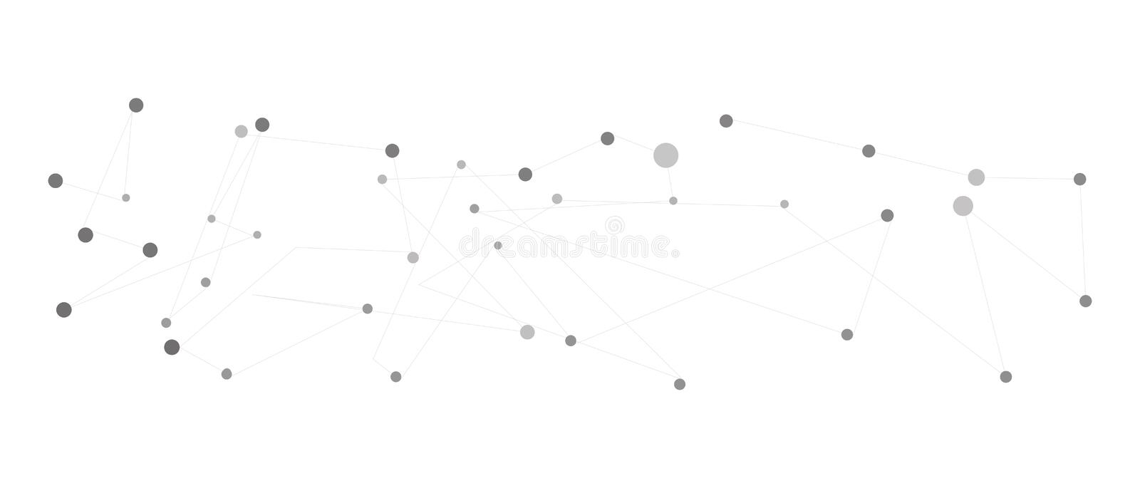 Abstract polygonal bakground with connecting dots royalty free illustration