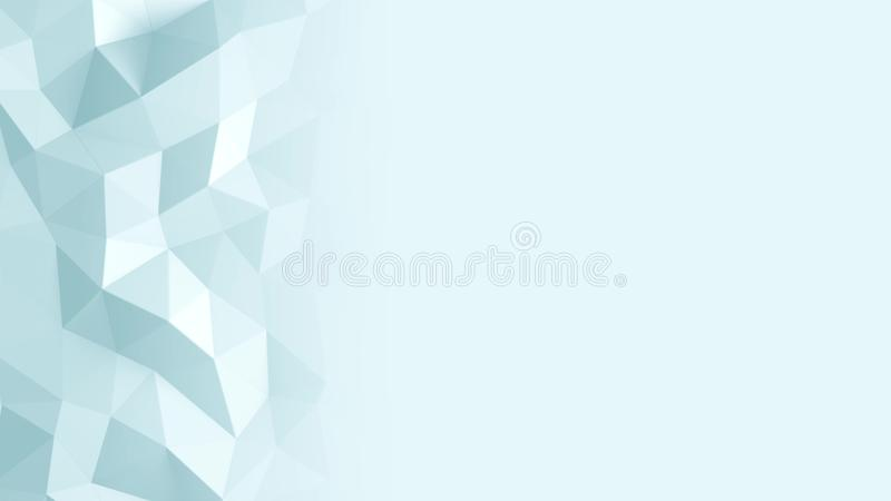 Abstract Polygonal Geometric background blue color royalty free illustration