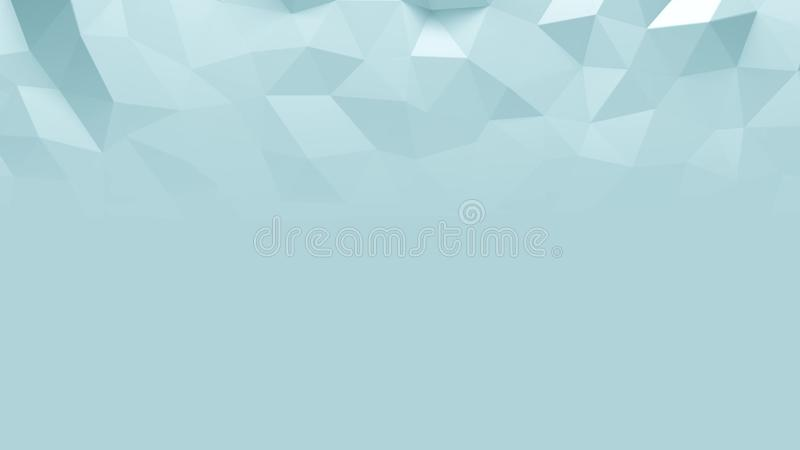 Abstract Polygonal Geometric background blue color vector illustration