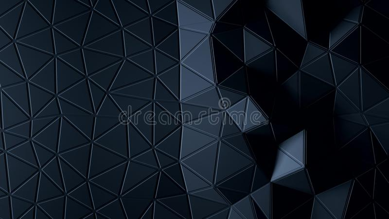 Abstract Polygonal Geometric background graphite color royalty free illustration