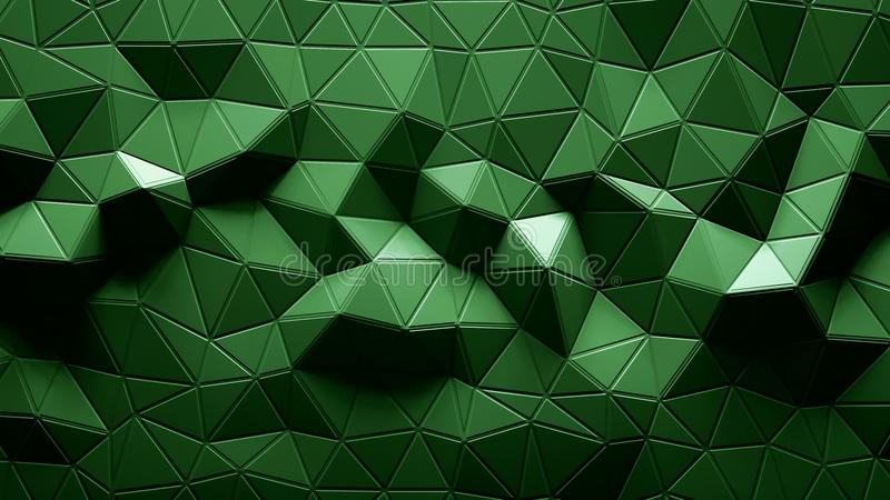 Abstract Polygonal Geometric background green color vector illustration