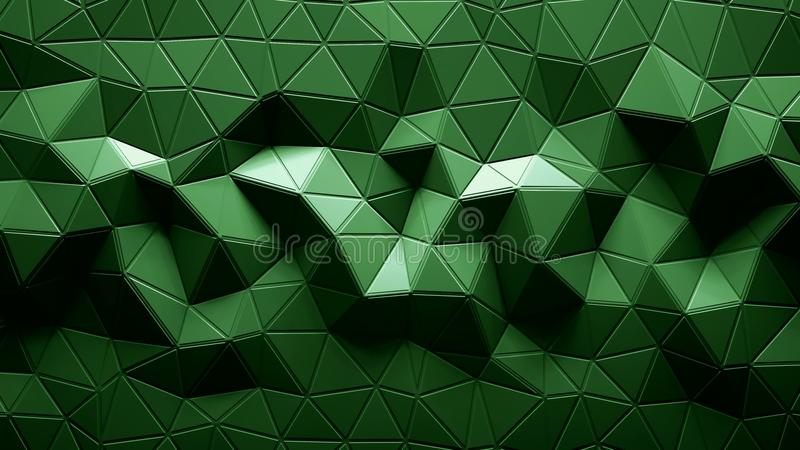 Abstract Polygonal Geometric background green color stock illustration
