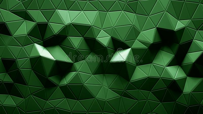 Abstract Polygonal Geometric background green color royalty free illustration