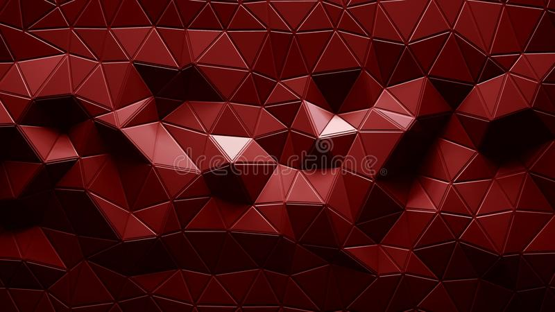 Abstract Polygonal Geometric background red color vector illustration
