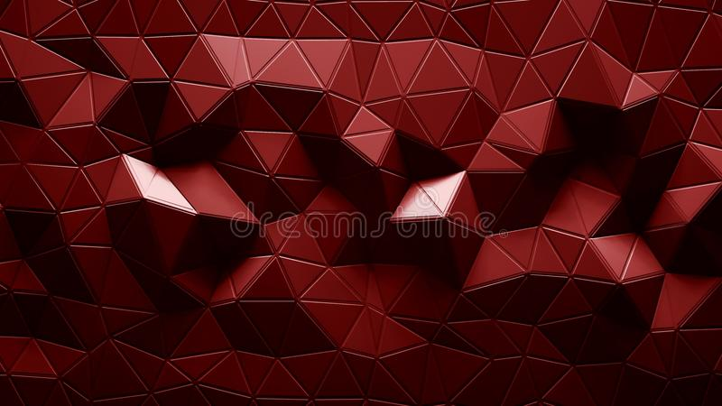 Abstract Polygonal Geometric background red color stock illustration