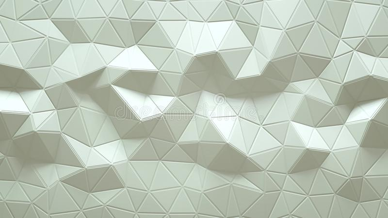 Abstract Polygonal Geometric background white color vector illustration