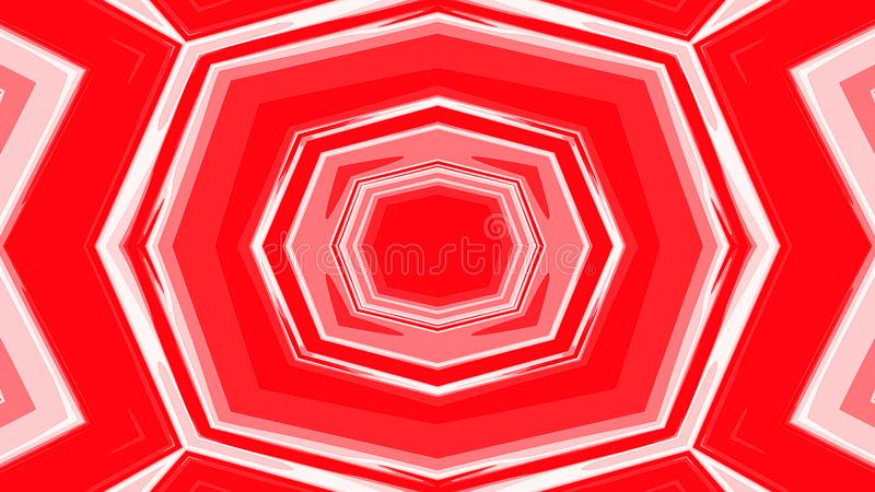 Abstract polygonal geometric design on red background vector illustration