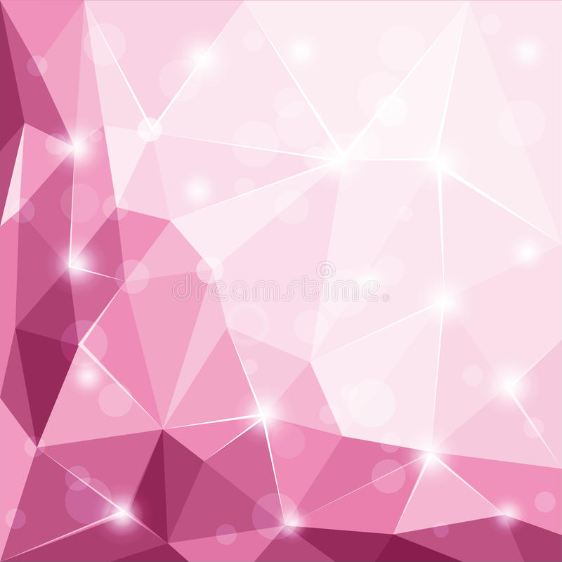 Abstract polygonal geometric facet shiny pink background illustration vector illustration