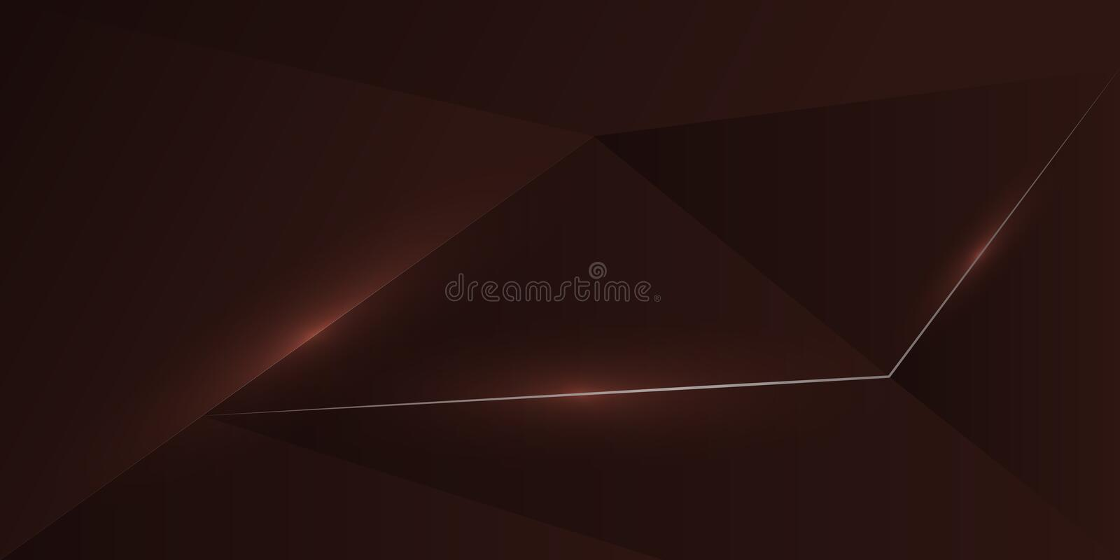 abstract polygonal gold line dark red background royalty free illustration