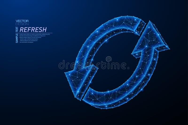 Abstract polygonal light design of Synchronization symbol vector illustration