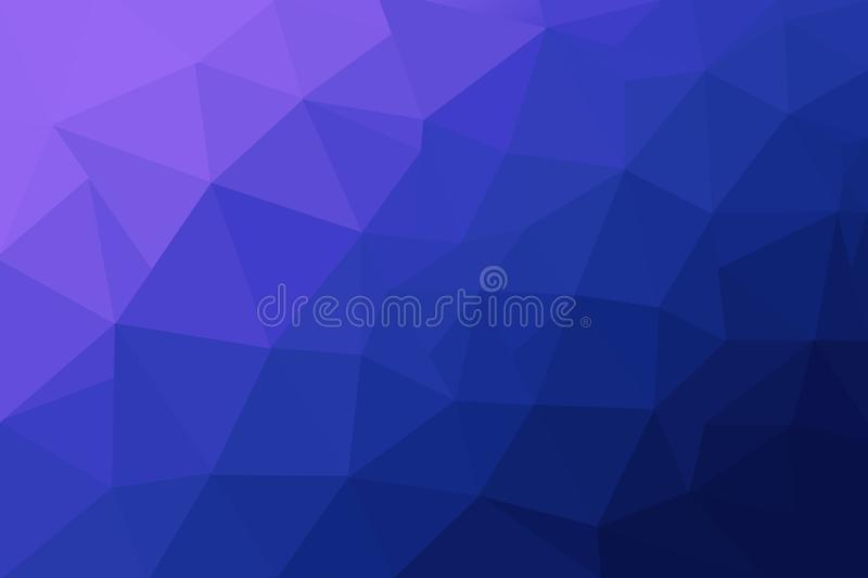 Abstract polygonal mosaic background. Multicolor low poly gradient background. Blue polygon background royalty free illustration