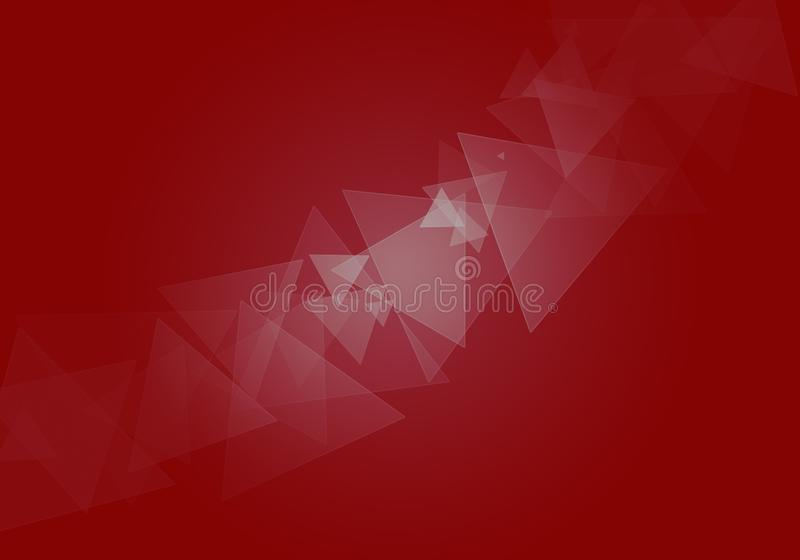 Abstract polygonal mosaic background. Red low poly background vector illustration