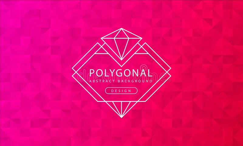 Abstract polygonal red pink background texture, red pink textured, banner polygon backgrounds, vector illustration vector illustration